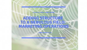 Adding Structure to a Nebulous Field: Marketing Operations