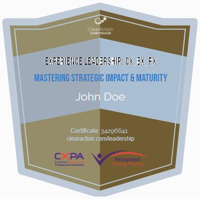 Experience Leadership Badge