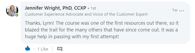 CCXP testimonials