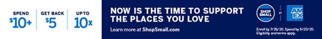 SHOP SMALL CASH BACK