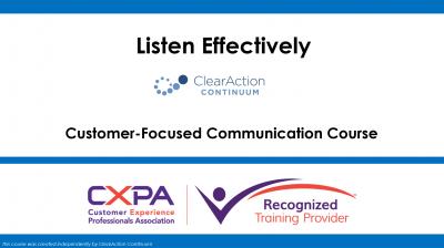 Listen Effectively
