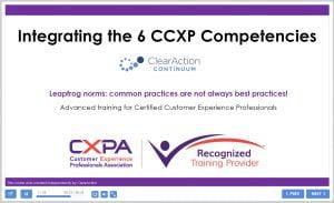 CCXP Competencies