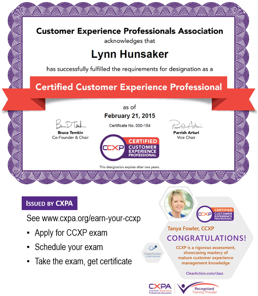 Customer Experience Certificate CCXP